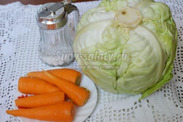 Рецепт квашеной капусты пошаговый рецепт с пошагово