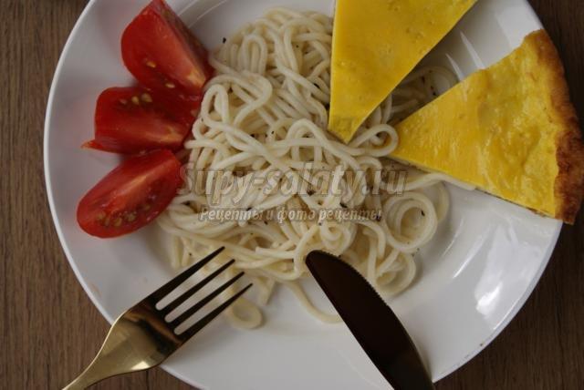 быстрый завтрак. Холостяцкая еда – яичница и спагетти