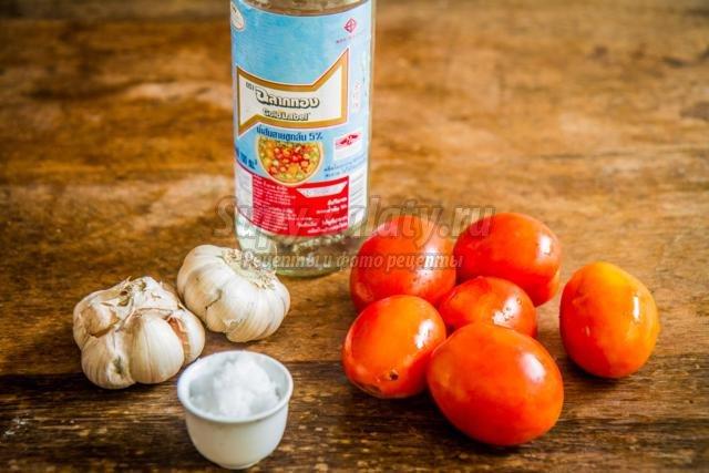 маринованные помидоры с чесноком. Популярные рецепты с фото