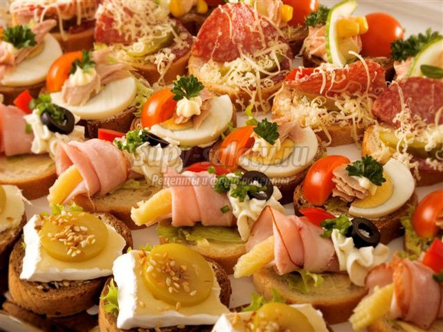 канапе рецепты на шпажках для свадебного фуршета