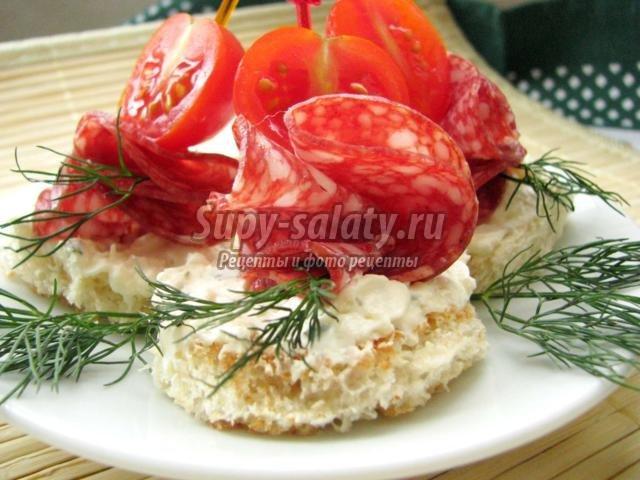 Канапе на праздничный стол рецепты с красной рыбой 181