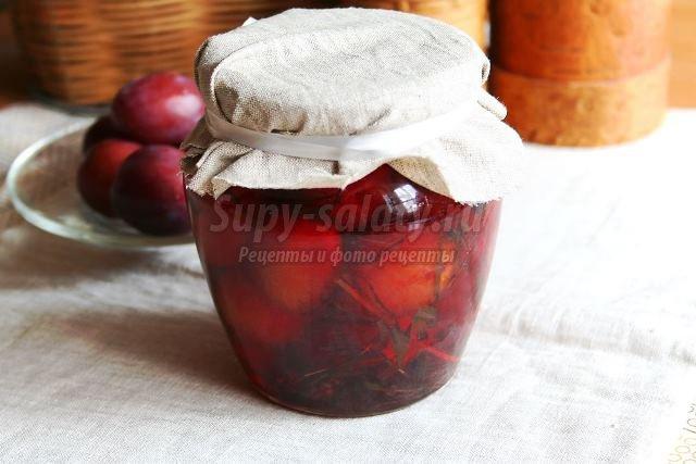 Маринованные сливы: рецепт с пошаговыми фото