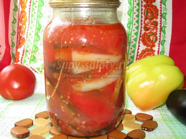 Рецепт заправки из помидор с перцем