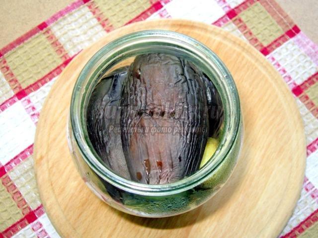 маринованные баклажаны для зимнего салата