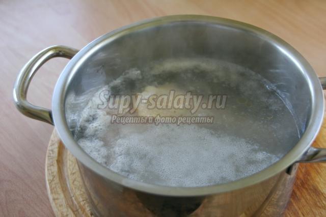 куриный суп со спаржевой фасолью
