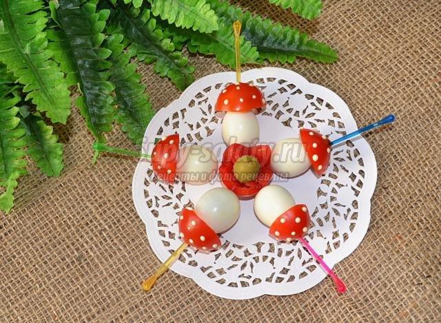 6 видов канапе из яиц