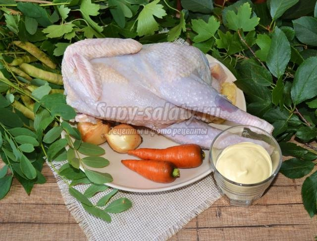 галантин из курицы к Новому году