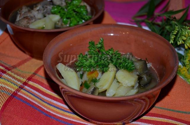 суп с баклажанами в мультиварке