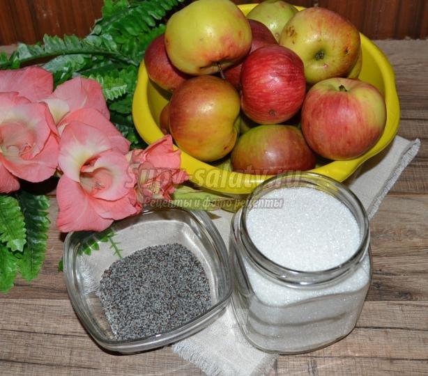 яблочное варенье с маком