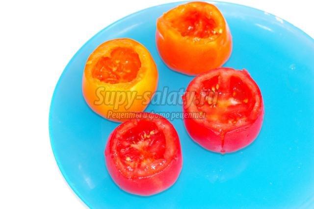омлет с болгарским перцем в помидорах