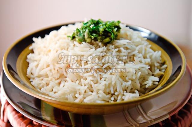 Рассыпчатый рис на гарнир: