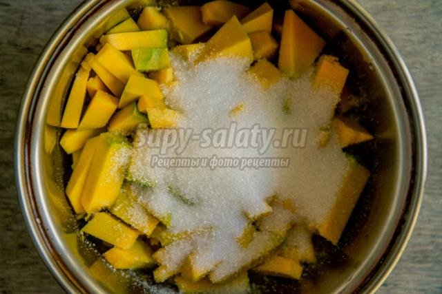 тыквенный десерт с желатином
