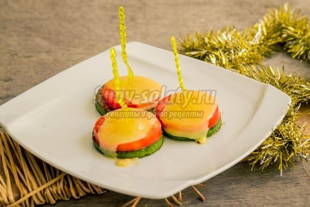 овощные канапе с сыром к Новому году