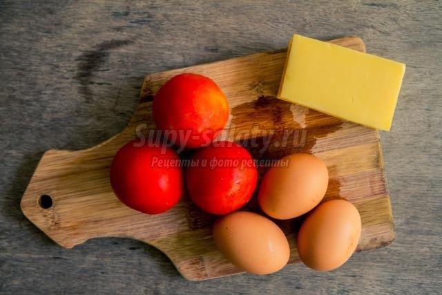 сырная закуска с помидорами к Новому году