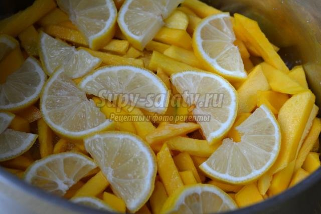 тыквенное варенье с лимоном и корицей