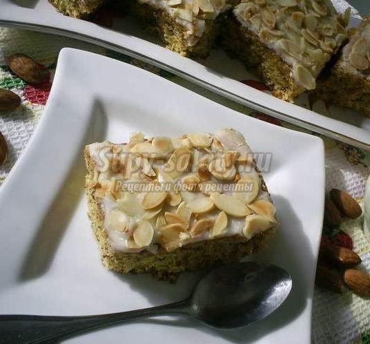 Миндальное пирожное – вкусно и изысканно