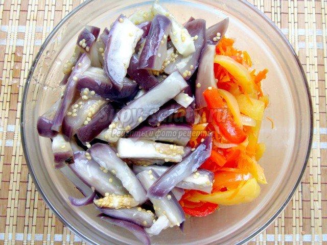 Рецепт баклажанов по корейски на зиму с пошагово