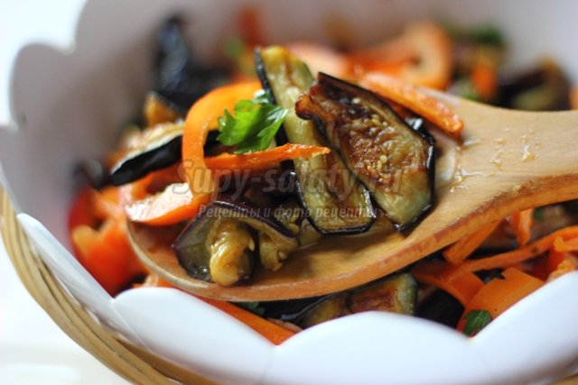 рецепт салата и др из баклажан на зиму