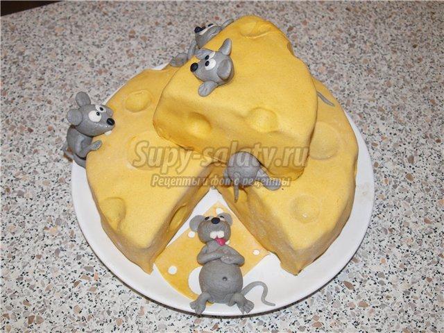 Торт с украшениями из мастики своими руками