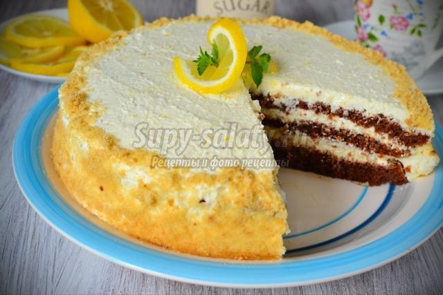 Торт с творожным кремом в мультиварке рецепты с фото