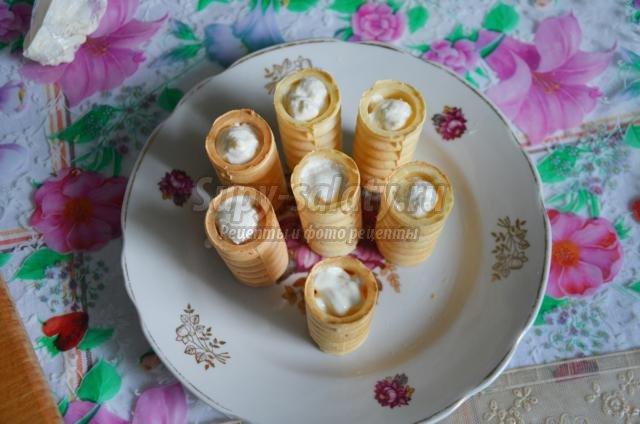 Крем для вафельных трубочек рецепт