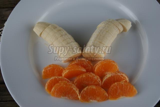 фруктовая нарезка для детей. Тропический остров