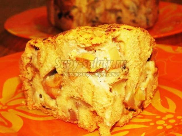 шарлотка с яблоками в хлебопечке