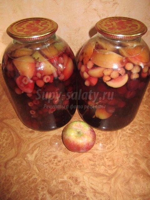 Вкусный компот ассорти из фруктов и ягод на зиму