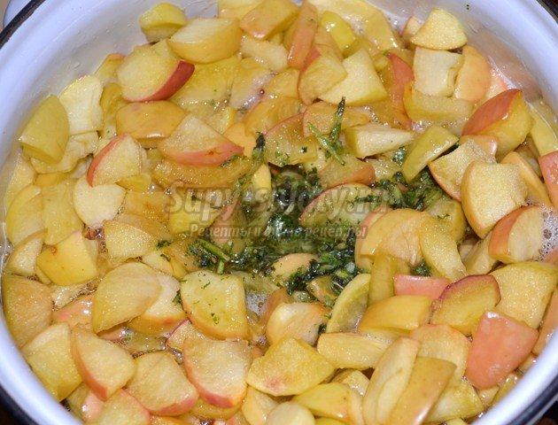 Яблочное варенье с мятой