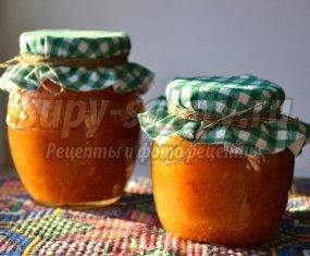 Апельсиново-яблочный джем с шафраном и куркумой