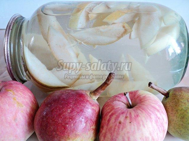 Яблочно-грушевый компот