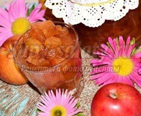 Яблочное варенье с виноградом