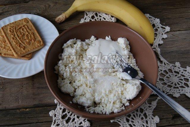 Детское блюдо из творога овечка