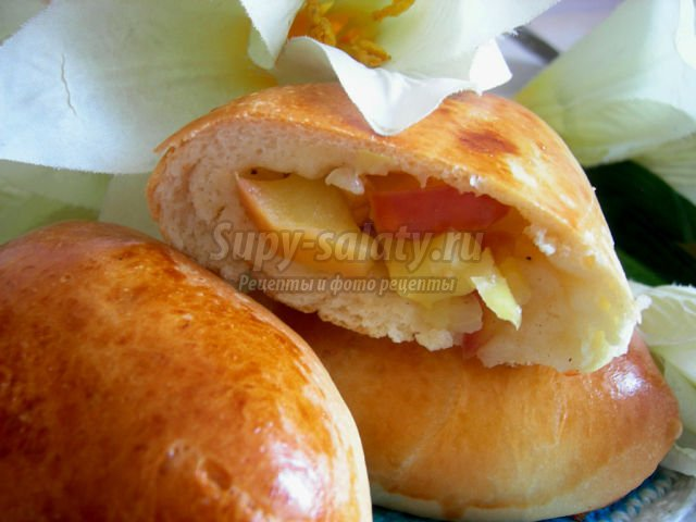пирожки с яблоками: лучшие рецепты с фото
