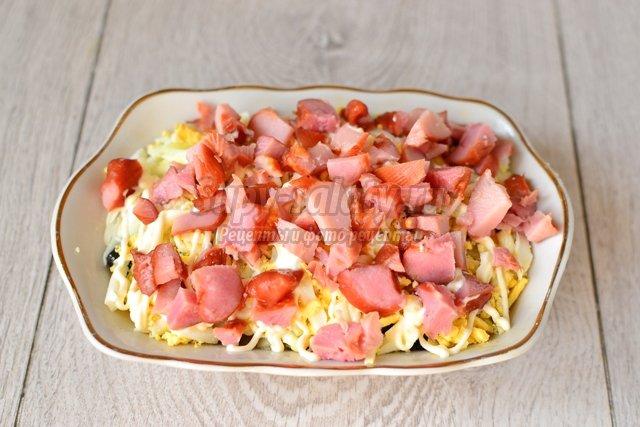 рецепты салатов с курицей и лесными грибами