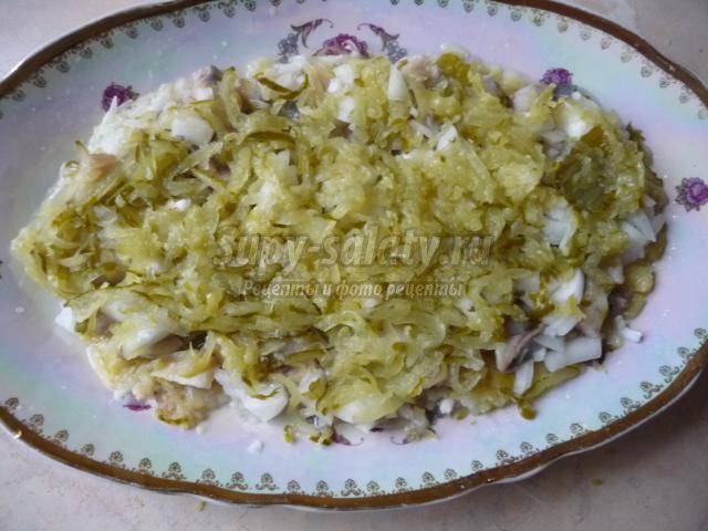 слоеный салат с сельдью а-ля Шуба