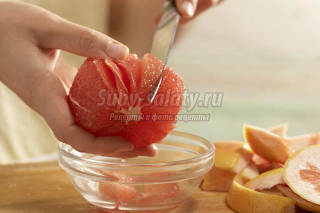 грейпфрутовые пирожные с йогуртом