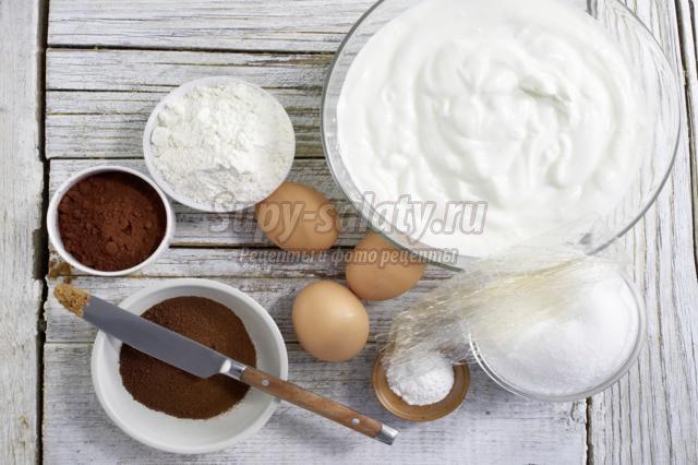 кофейный торт из йогурта