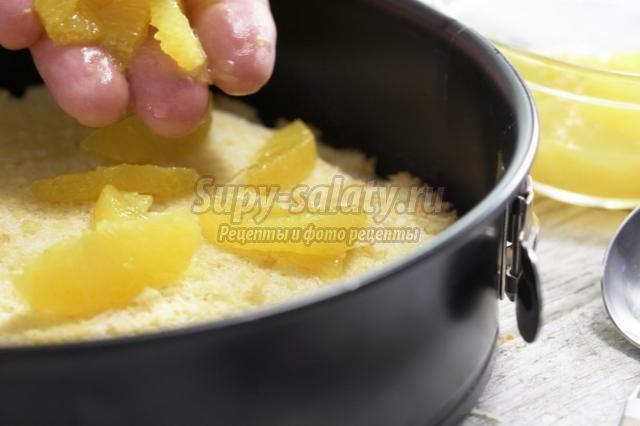 кремовый торт с карамелью и апельсинами