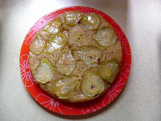 Пирог с грушами в духовке: рецепт с фото