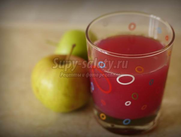 Компот из яблок и терна: пошаговый рецепт с фото