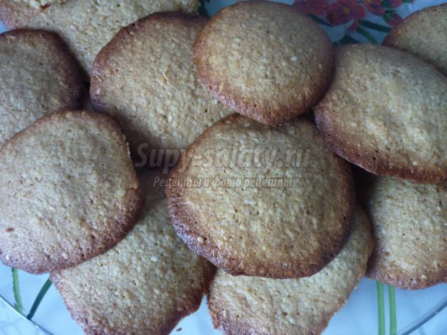 овсяное печенье с медом и орехами