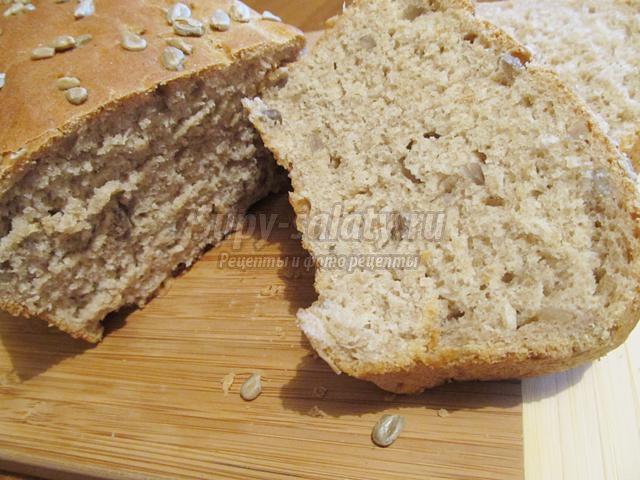 пшенично-ржаной хлеб с семенами подсолнечника