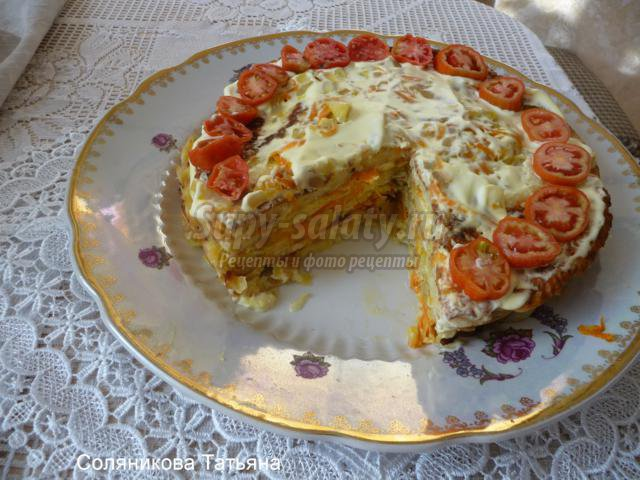 торт из кабачков рецепт с фото с луком и морковью
