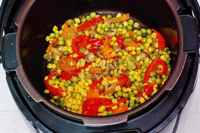 Тушеные овощи рецепт пошагово в мультиварке