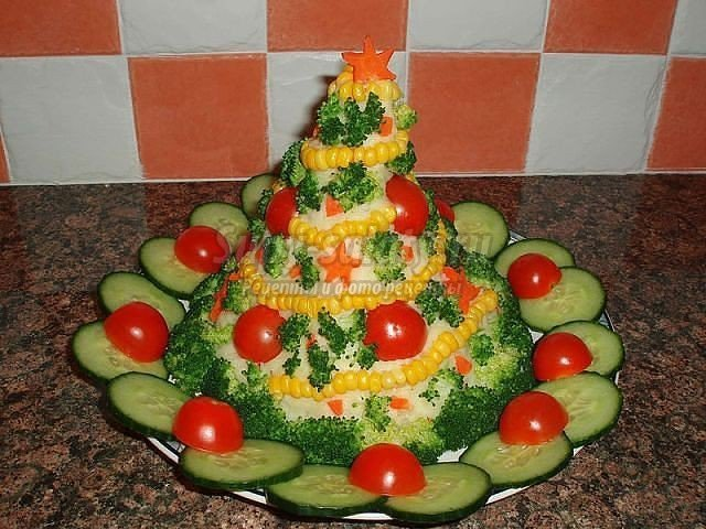 Как украсить салаты своими руками на новый