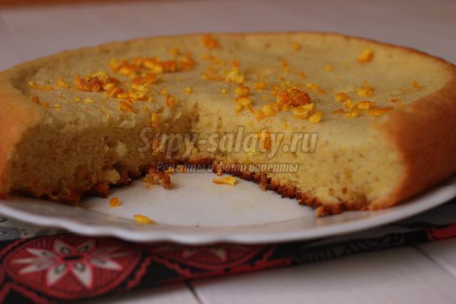 бисквит в мультиварке с мандариновой цедрой