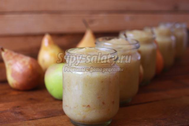 яблочно-грушевое пюре в мультиварке