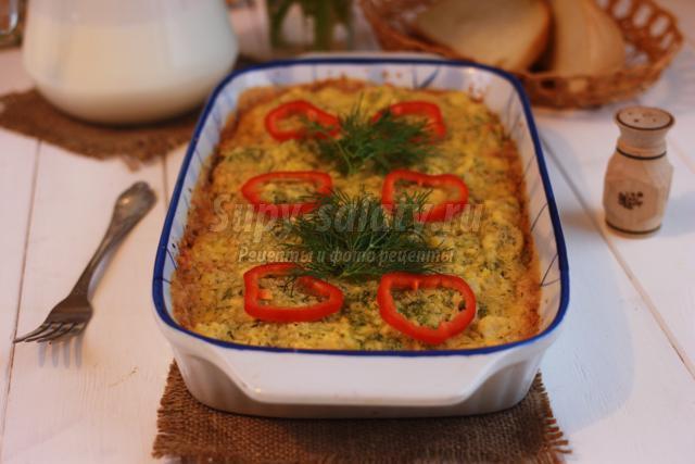 запеканка из цветной капусты с сыром