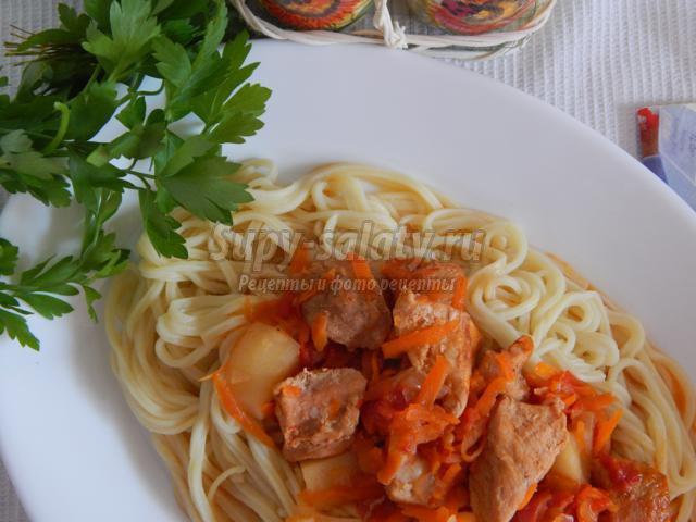 Рецепт лагмана в домашних условиях со свининой рецепт с фото